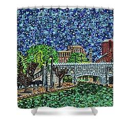 Richmond Canal Walk Shower Curtain by Micah Mullen
