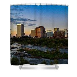Richmond Skyline At Dusk Shower Curtain