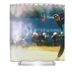 Rickie Fowler  Shower Curtain