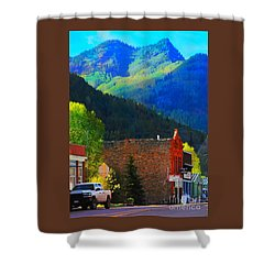 Rico Colorado Shower Curtain by Annie Gibbons