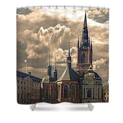 Riddarholm Church - Stockholm Shower Curtain