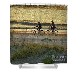 Ride At Dawn Shower Curtain