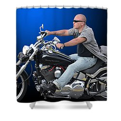 Ride Free 2 Shower Curtain