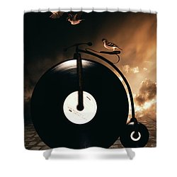 Ride Lesson Shower Curtain