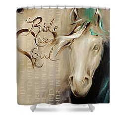 Ride Like A Girl 16x20 Shower Curtain