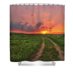 Shower Curtain featuring the photograph Ride Off Into The Sunset by Darren White