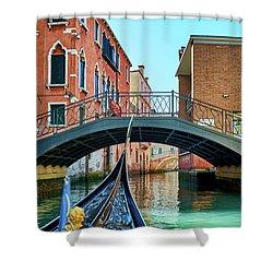 Ride On Venetian Roads Shower Curtain