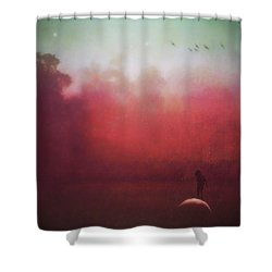 Ride The Moon Shower Curtain