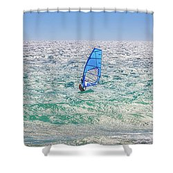 Ride The Waves, Scarborough Beach Shower Curtain