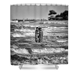 Ride The Waves Shower Curtain