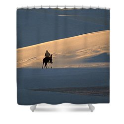 Rider In The Sand #5 Shower Curtain