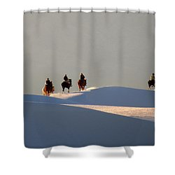 Riders In The Sand #2 Shower Curtain
