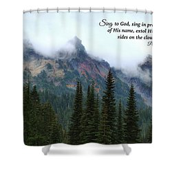 Shower Curtain featuring the photograph Rides On The Clouds by Lynn Hopwood