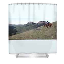 Ridge Riding Shower Curtain