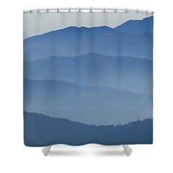 Ridgelines Great Smoky Mountains Shower Curtain by Rich Franco