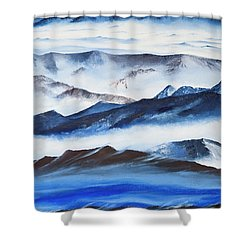 Ridgelines Shower Curtain
