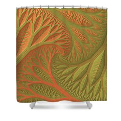 Shower Curtain featuring the digital art Ridges And Valleys by Lyle Hatch