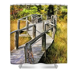 Ridges Sanctuary Crossing Shower Curtain by Christopher Arndt