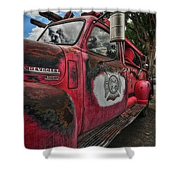 Ridgway Fire Truck Shower Curtain