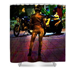 Shower Curtain featuring the photograph Riding Companion II by Al Bourassa