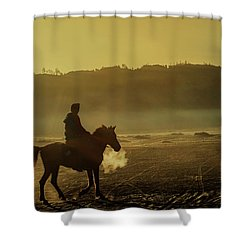 Riding His Horse Shower Curtain