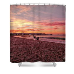 Shower Curtain featuring the photograph Riding Home by Roy McPeak