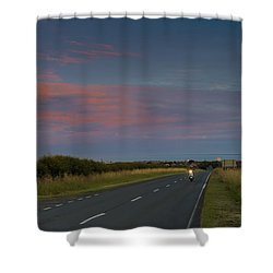 Riding Into The Sunset Shower Curtain