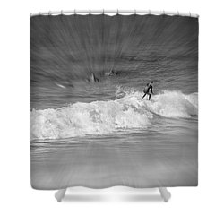 Riding It Out Shower Curtain