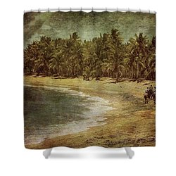 Riding On The Beach Shower Curtain