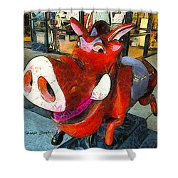 Shower Curtain featuring the photograph Riding Pig Of Pismo Beach by Floyd Snyder