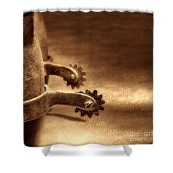 Riding Spurs Shower Curtain