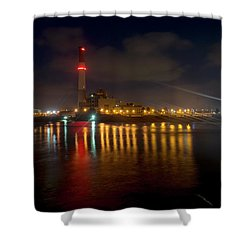 Shower Curtain featuring the photograph Riding Station, Tel Aviv, Water Side by Dubi Roman