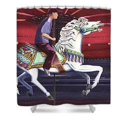 Riding The Carousel Shower Curtain