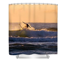 Riding The Crest Shower Curtain