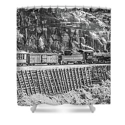 Shower Curtain featuring the photograph Riding The Edge by Colleen Coccia
