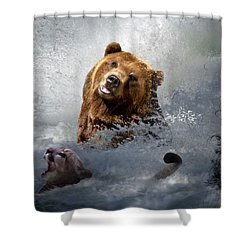 Riding The Gauntlet Shower Curtain by Bill Stephens