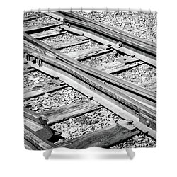 Shower Curtain featuring the photograph Riding The Rail by Colleen Coccia