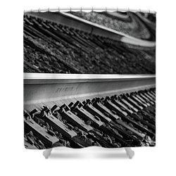 Shower Curtain featuring the photograph Riding The Rail by Doug Camara