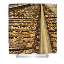 Riding The Rails Shower Curtain