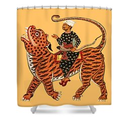 Riding The Tiger Shower Curtain