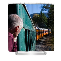 Riding The Train 8x10 Shower Curtain