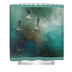 Riding The Winds Shower Curtain