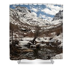 Right Fork Canyon Shower Curtain
