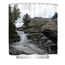 Right Fork Waterfall Shower Curtain