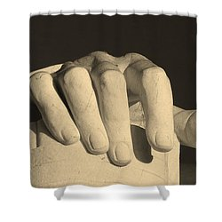 Right Hand Of The Man Shower Curtain