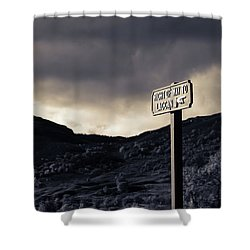 Shower Curtain featuring the photograph Right Of Way To Laggan by RKAB Works