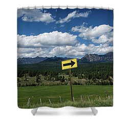 Right This Way Shower Curtain by Jason Coward