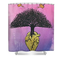Shower Curtain featuring the painting Righteous Growth by Nathan Rhoads