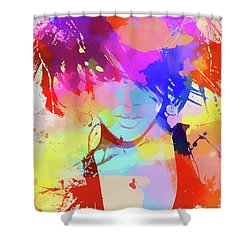 Rihanna Paint Splatter Shower Curtain