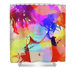 Rihanna Paint Splatter Shower Curtain by Dan Sproul